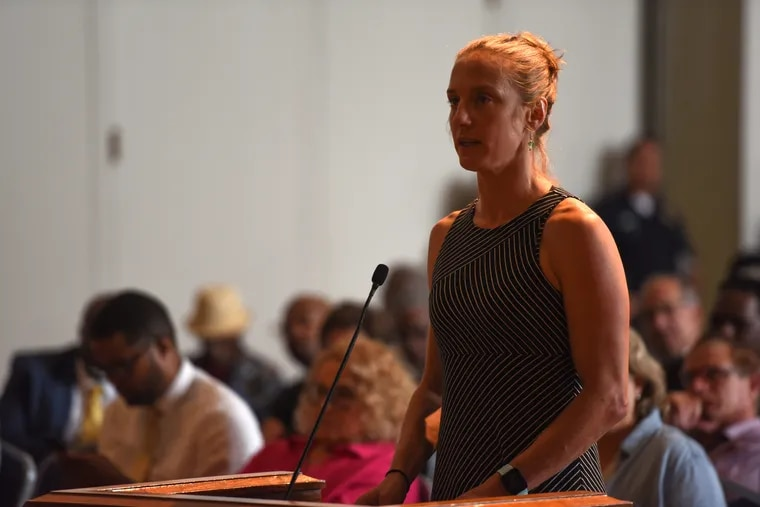 Sue Altman of New Jersey Working Families speaks during a public hearing in July 2019 in Trenton. This week, Gov. Murphy's office forwarded a complaint by Altman about the DRPA to the New Jersey Comptroller's office for review.