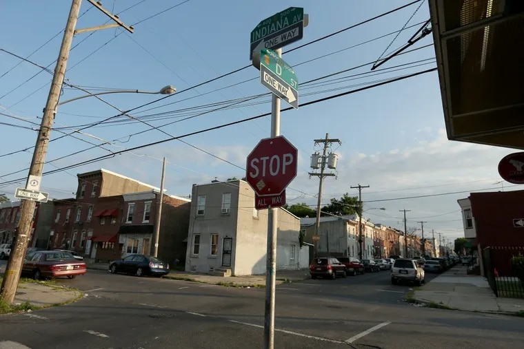 The corner of D Street and Indiana Avenue in Kensington.