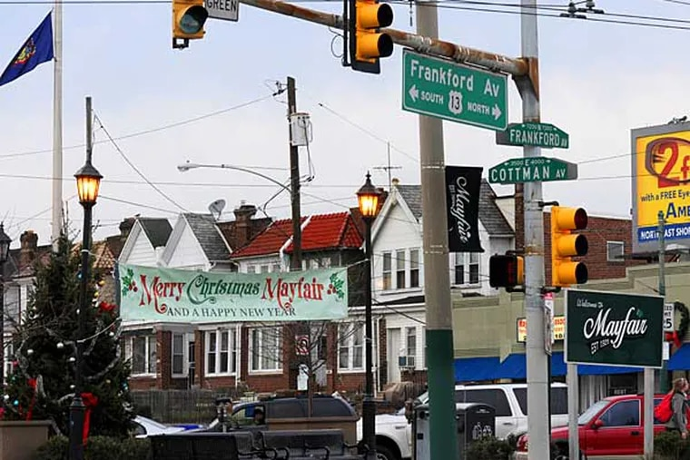 The Mayfair neighborhood of Philadelphia on Dec. 20, 2012.  Here, the intersection of Cottman and Frankford.  APRIL SAUL / Staff Photographer