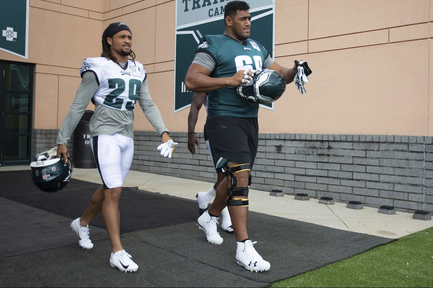 Jordan Mailata, the Eagles' biggest rookie, faces the biggest challenge