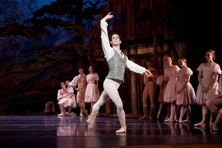 """Ian Hussey, in a dress rehearsal for Pennsylvania Ballet's """"Giselle,"""" which opens Thursday at the Academy of Music."""