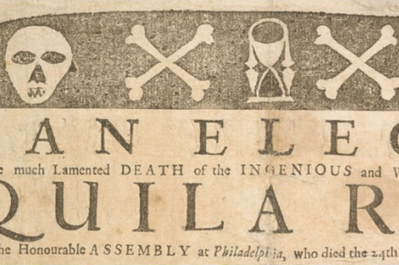 The broadside that made the city: Penn Libraries acquires Franklin's first print job