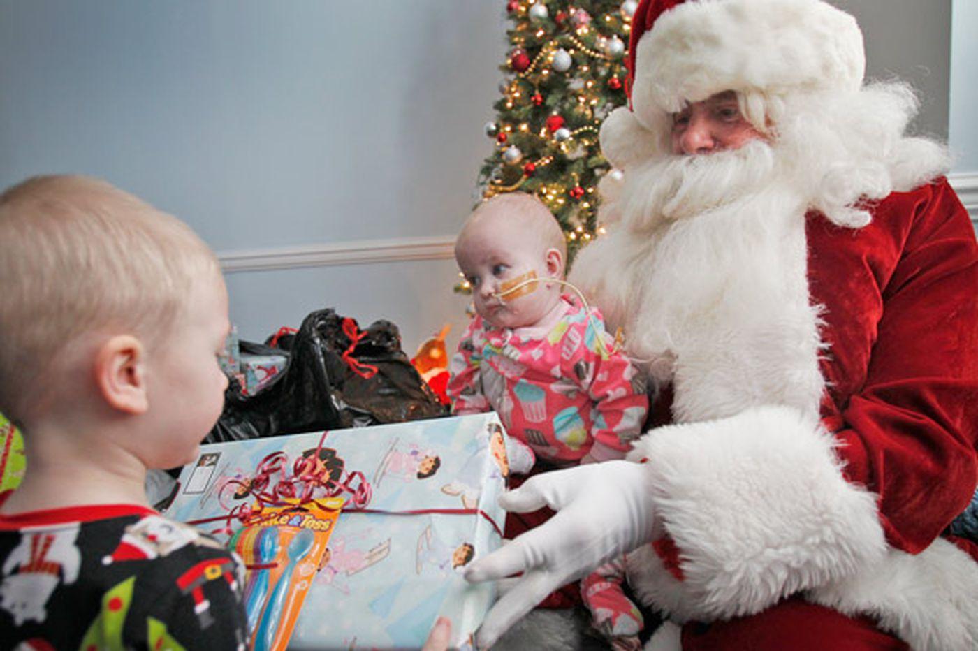 Jewish Santa makes rounds at Camden's Ronald McDonald House