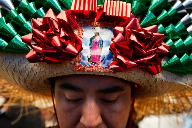 A participant dresses the part during Carnaval de Puebla on the 1500 block of Wharton Street in Philadelphia on April 25, 2010. Organizers have canceled this year's event amid concerns of recent ICE crackdowns.