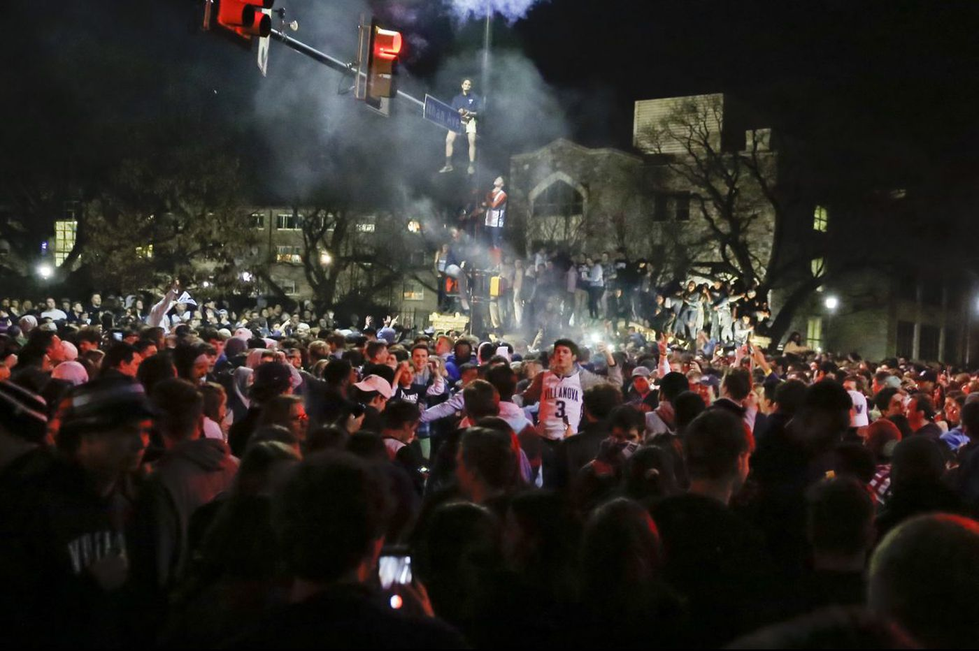With another NCAA basketball championship, Villanova fans let loose