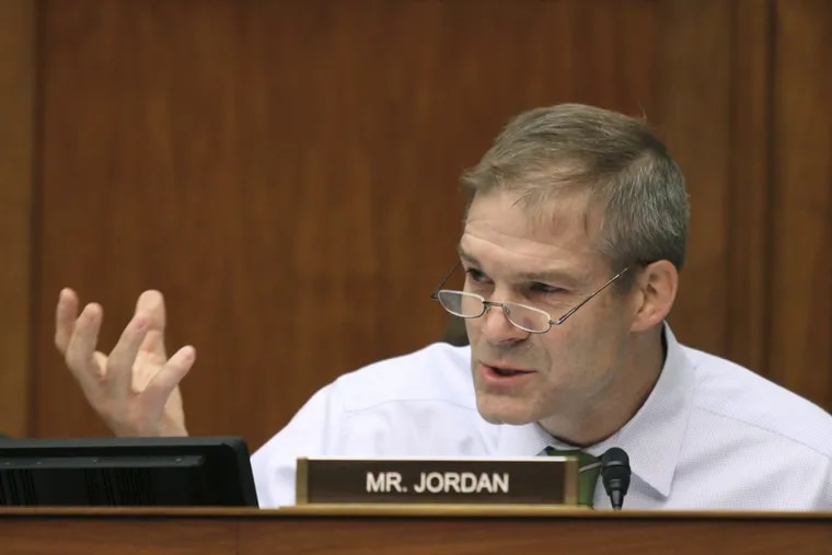 """U.S. Rep. Jim Jordan, shown in June 2016, said at a House committee hearing last week that if every member of Robert Mueller's special counsel team who was """"anti-Trump"""" were kicked off, """"I don't know if there'd be anyone left."""""""