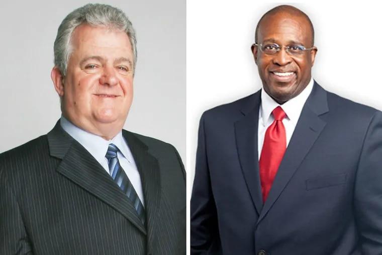U.S. Rep. Bob Brady (left), Former Philadelphia Municipal Court Judge Jimmie Moore (right)