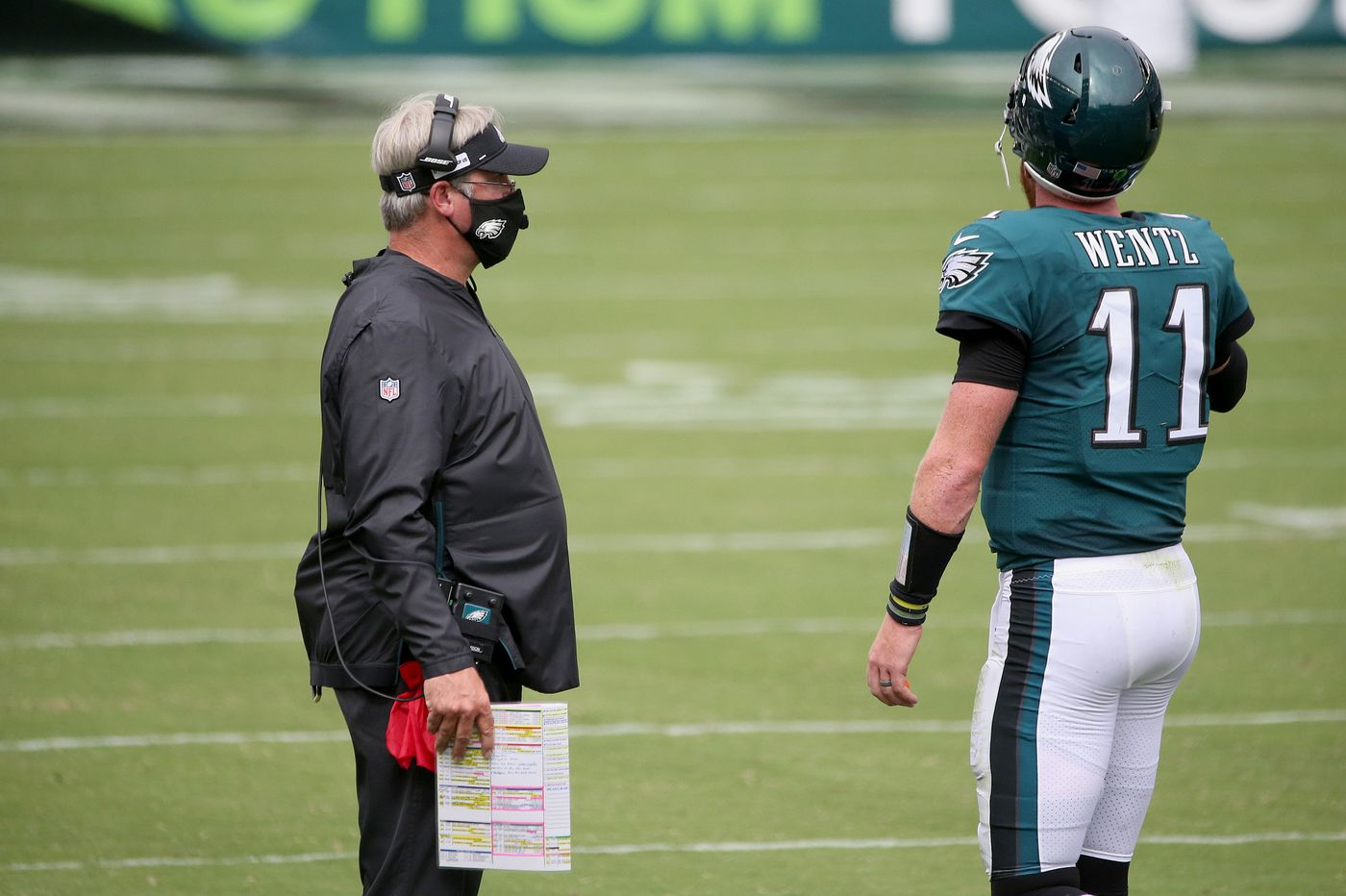 Eagles' Doug Pederson talks of going back to basics with Carson Wentz, and that punt? Now he gets it.