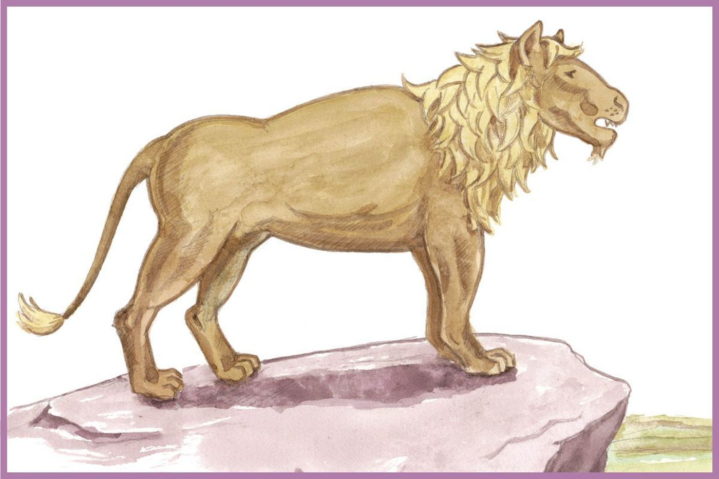 Hey, kids: Draw this lion for a chance to see your artwork published