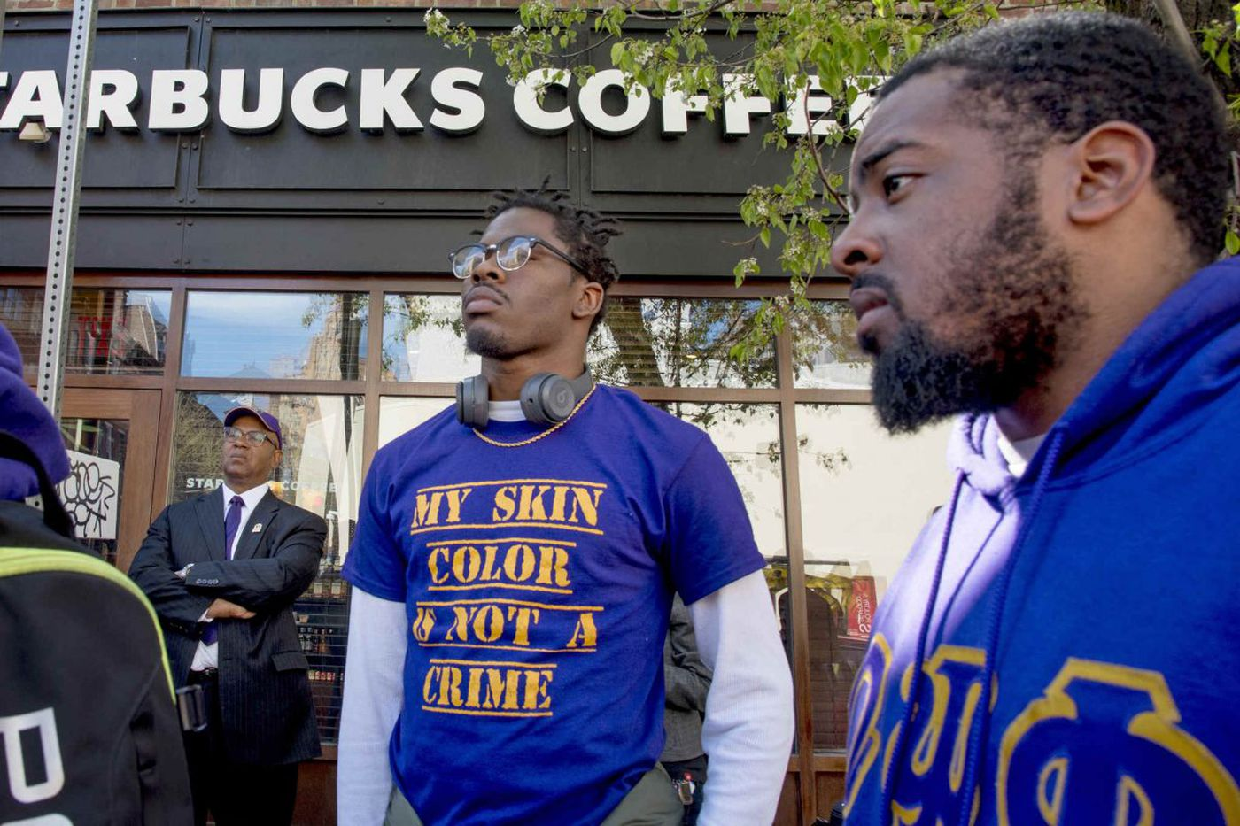 'My skin color is not a crime': Fraternity protests at Philly Starbucks