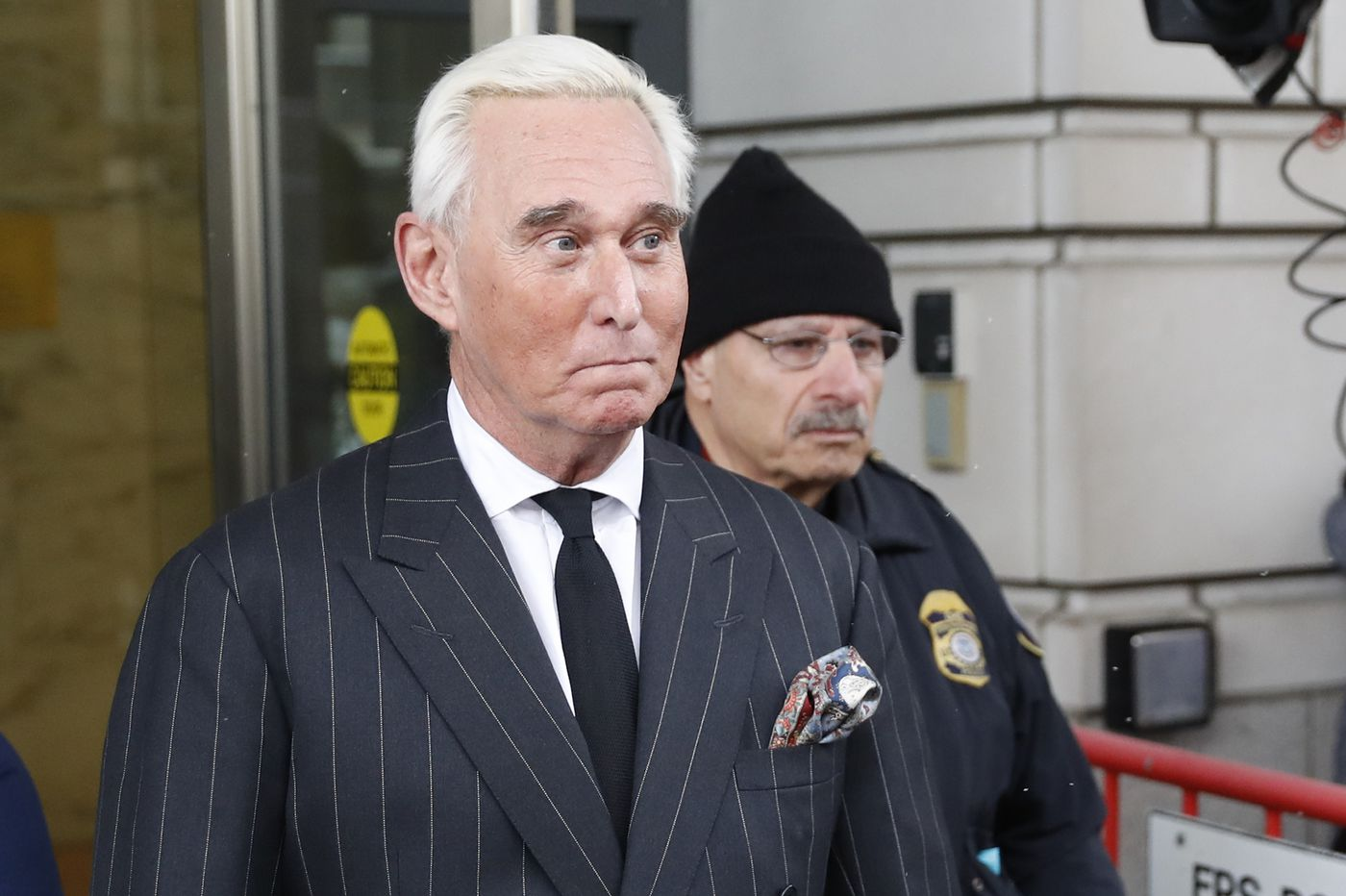 Stone has to stay mum near the courthouse under gag order from judge