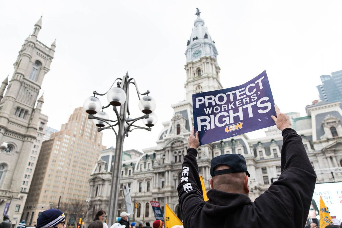 As Supreme Court case looms, labor supporters rally in Philly