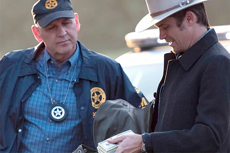 """Nick Searcy and Timothy Olyphant in """"Justified."""" (FX)"""