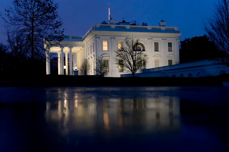 The White House, Friday, Jan. 1, 2021, in Washington.