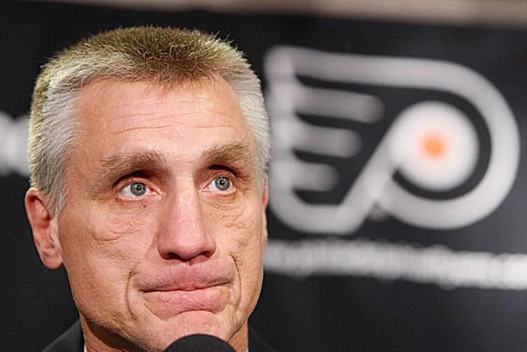 Flyers general manager Paul Holmgren says he won't use injuries as an excuse for team's struggles. (Matt Slocum/AP file photo)