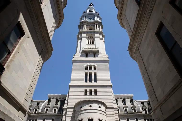 City Hall in Philadelphia, Thursday, May 16, 2019. (AP Photo/Matt Rourke)
