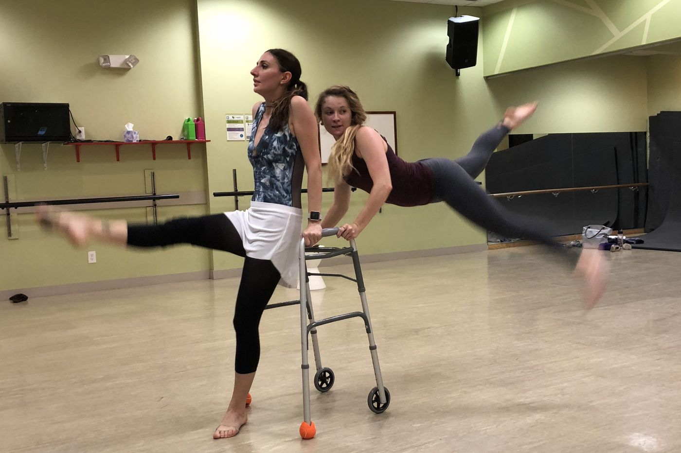 A stricken dancer and the walker she uses to create ballet | Stu Bykofsky