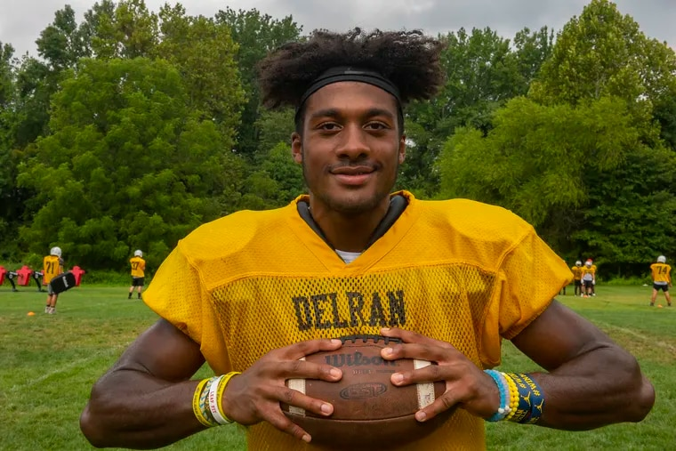 Delran High's R.J. Moten is a Michigan recruit for football. He also plans to play baseball for the Wolverines.