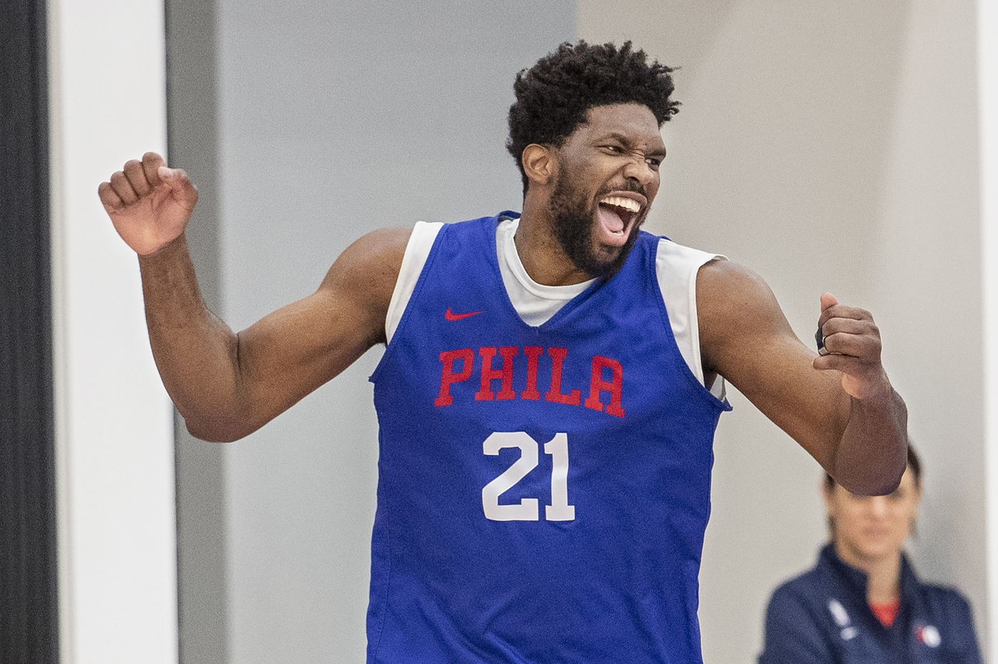 Sixers shed no light on Joel Embiid's 'shush' gesture