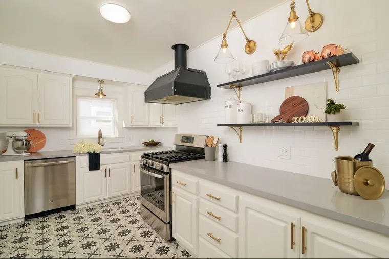 Among 2018 design trends predicted by the real estate website Zillow: statement floors. Here's a kitchen example.