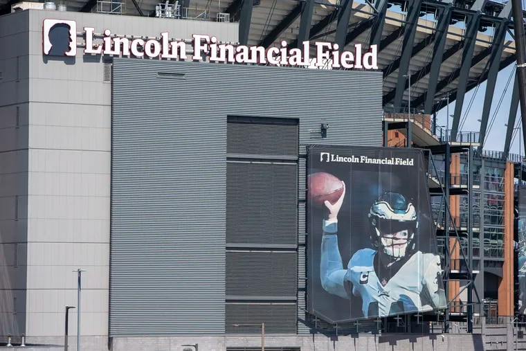 The Eagles recently removed their banner of Carson Wentz from the facade of Lincoln Financial Field.