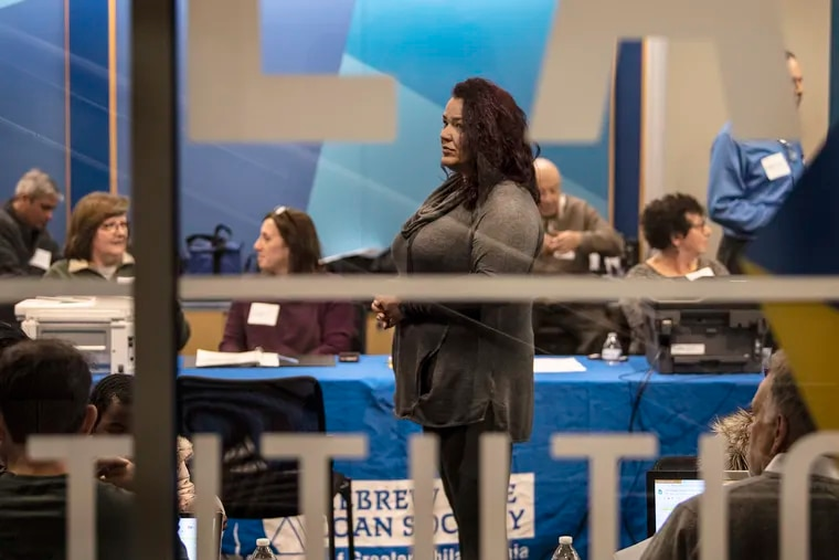 Tamuyin Eberhardt, a furloughed customer service representative for the Internal Revenue Service, was among dozens who received no-cost, short-term loans Sunday from the Hebrew Free Loan Society of Greater Philadelphia as part of a nonsectarian relief program made possible by an anonymous donor.