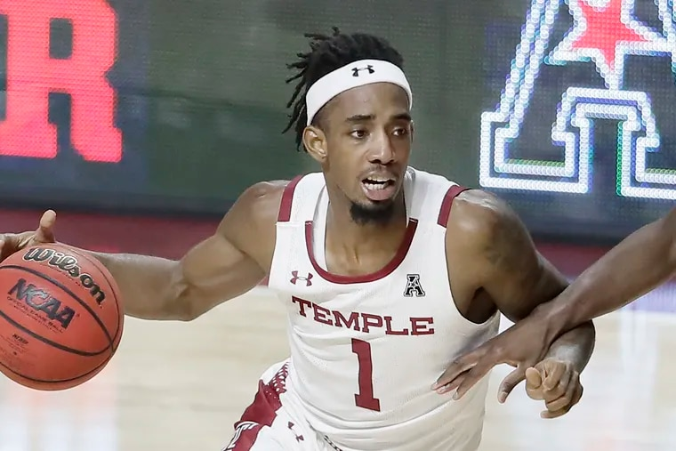 Temple's Quinton Rose during the second half of the Cincinnati at Temple University mens NCAA basketball game at Temple's Liacouras Center in Phila., Pa, on January 22, 2019.
