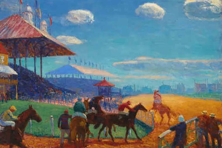 """William Glackens' """"Race Track"""" (1909). Glackens was a high school friend who helped Albert Barnes begin collecting. The foundation owns 71 works by Glackens."""