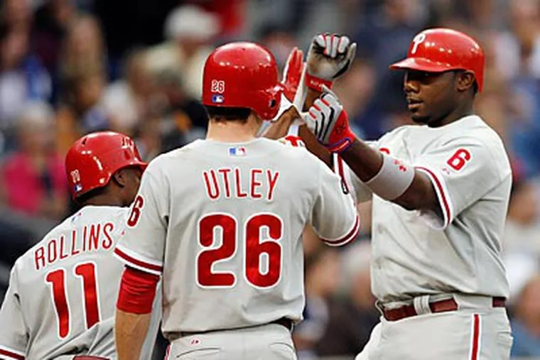 Jimmy Rollins, Chase Utley and Ryan Howard were all drafted by the Phillies. (AP file photo / Denis Poroy)