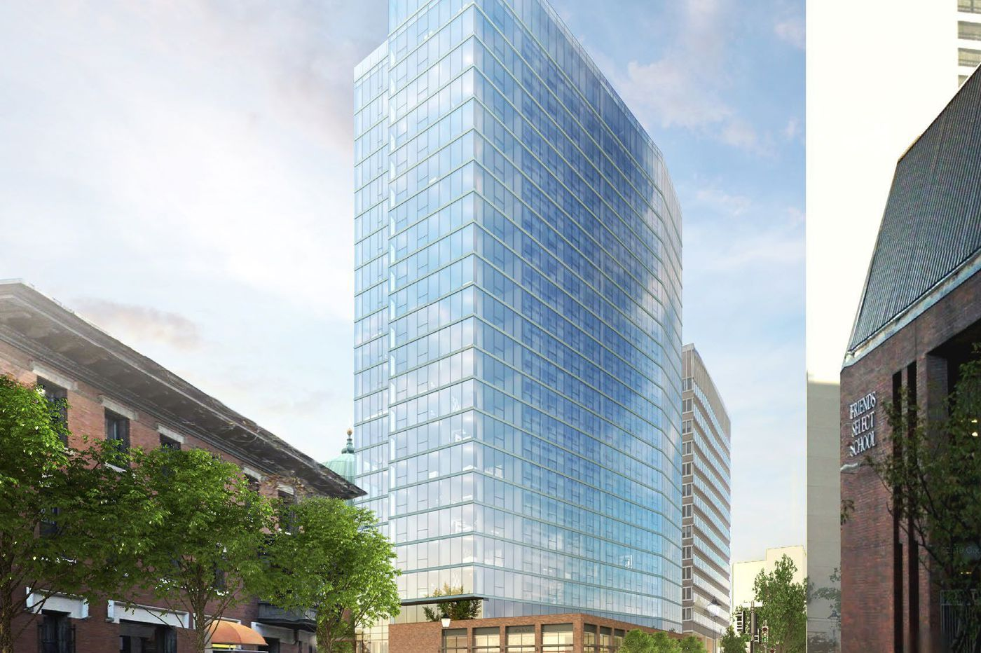 Developer plans 23-story residential tower in first phase of Philly Cathedral-property project