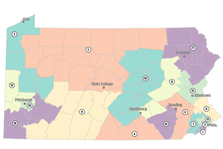 The congressional map proposed by top Republican lawmakers.