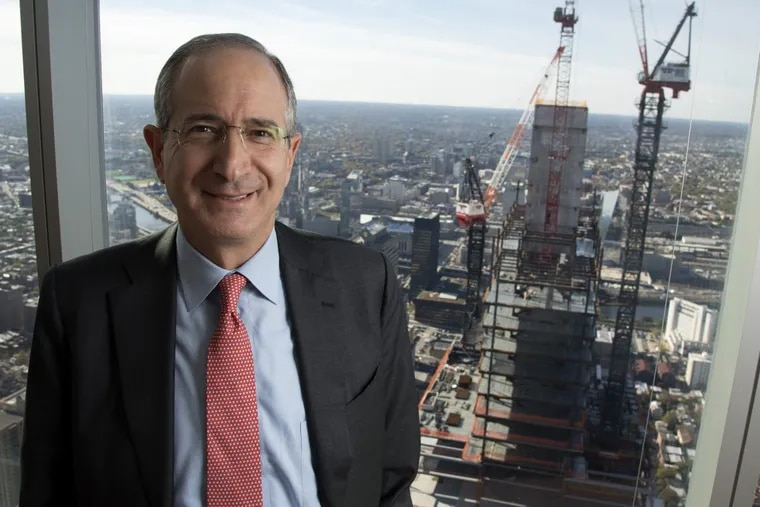 Comcast CEO Brian Roberts on  October 31, 2016, on the 51st floor of the Comcast Center overlooking the 2nd Comcast tower being built across the street. CLEM MURRAY / Staff Photographer