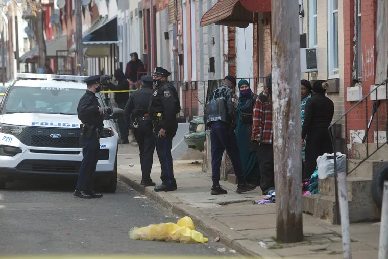 Philadelphia Police investigate the shooting of a 9-year-old girl on Wednesday on 2300 block N. Bouvier St.