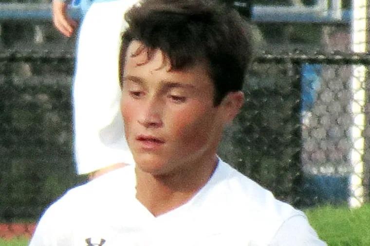 Lou Vilotti of the Washington Township boys' soccer team in action. (handout)