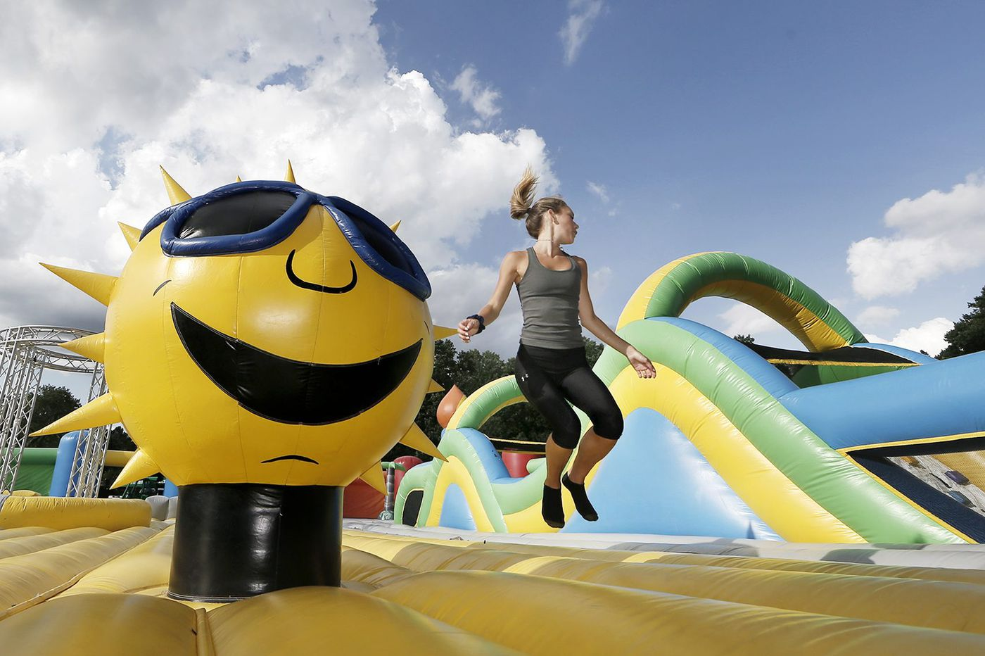 I bounced on the world's biggest bounce house