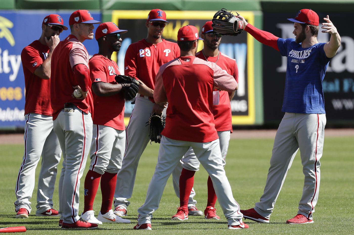 Phillies podcast: The Bryce Harper buzz, outfield changes, starting pitching issues and win predictions