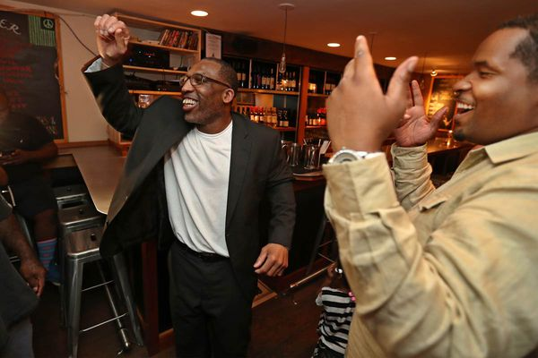 After 25 years behind bars, Anthony Wright takes his first steps as a free man