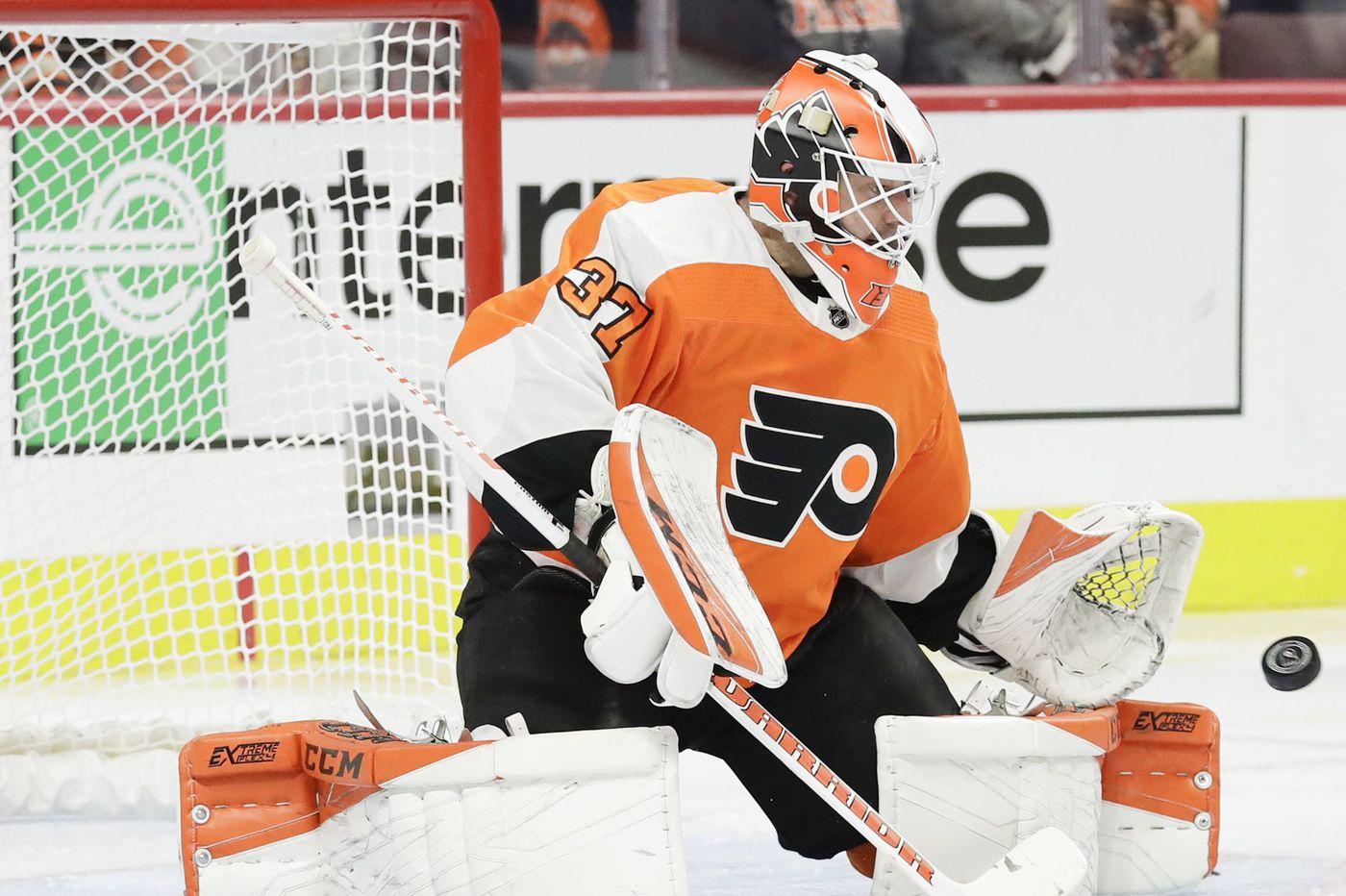 Flyers goalie Brian Elliott injured at practice