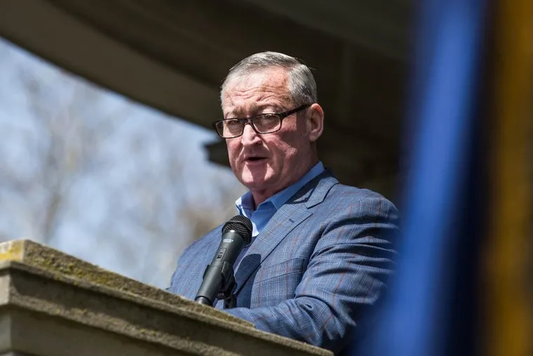 Mayor Jim Kenney, pictured here in April at the unveiling of new storyboard honoring Civil War troops, says his administration's 'sanctuary city' policies ensure fair treatment.