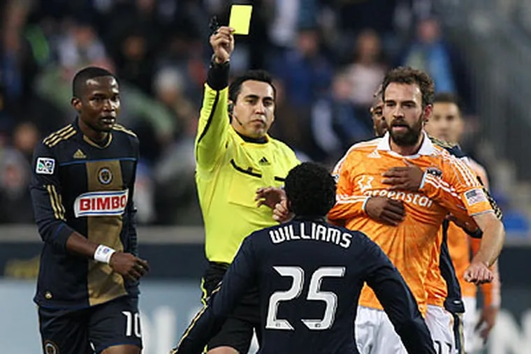 Sheanon Williams and the Union must overcome a one-goal deficit Thursday in Houston. (Steven M. Falk/Staff Photographer)