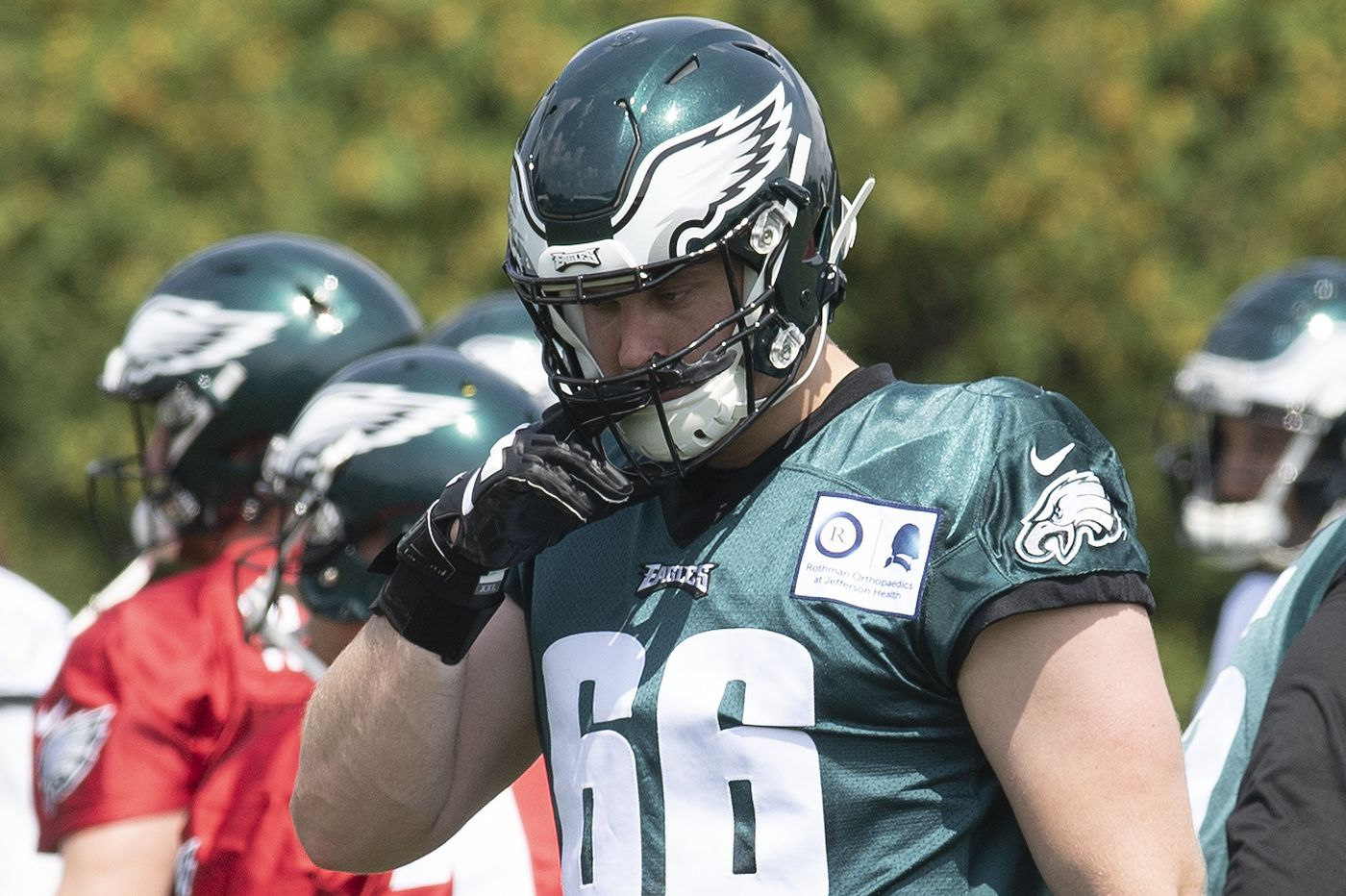 Eagles OT Brett Toth is ready to go from the military to the NFL