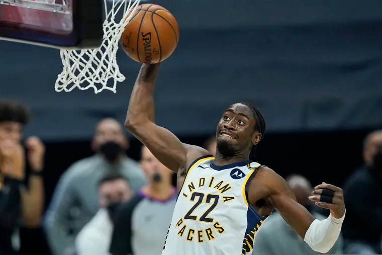 Indiana Pacers' Caris LeVert along with Malcolm Brogdon and a first-round pick could be a good package for Ben Simmons