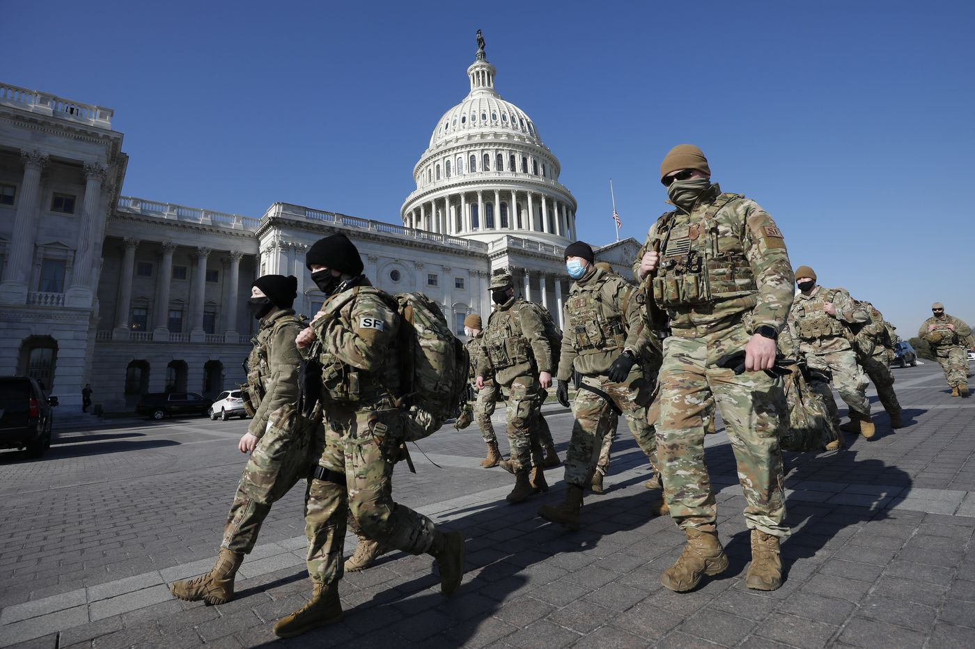 National Guard troops are flooding in as Washington locks down a week before the inauguration