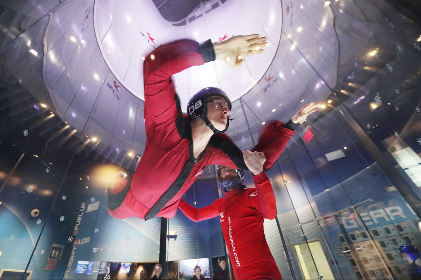 Coping with the cold Philly-style: Skydiving, surfing, a Penn basketball game
