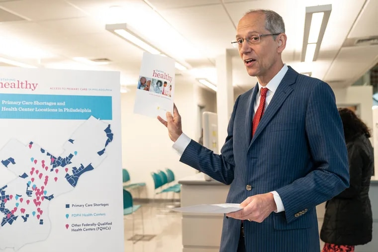 Dr. Thomas Farley, Philadelphia Health Commissioner, speaks during a press conference at the Health Center 10, 2230 Cottman Ave.