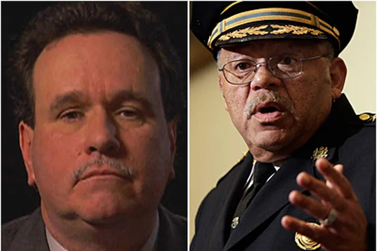 Lt. Richard Brown (left) was allowed to quietly retire last year, dodging scrutiny that could have resulted in criminal charges. Police Commissioner Charles Ramsey (right) was not certain why the case was not referred to the District Attorney's Office.
