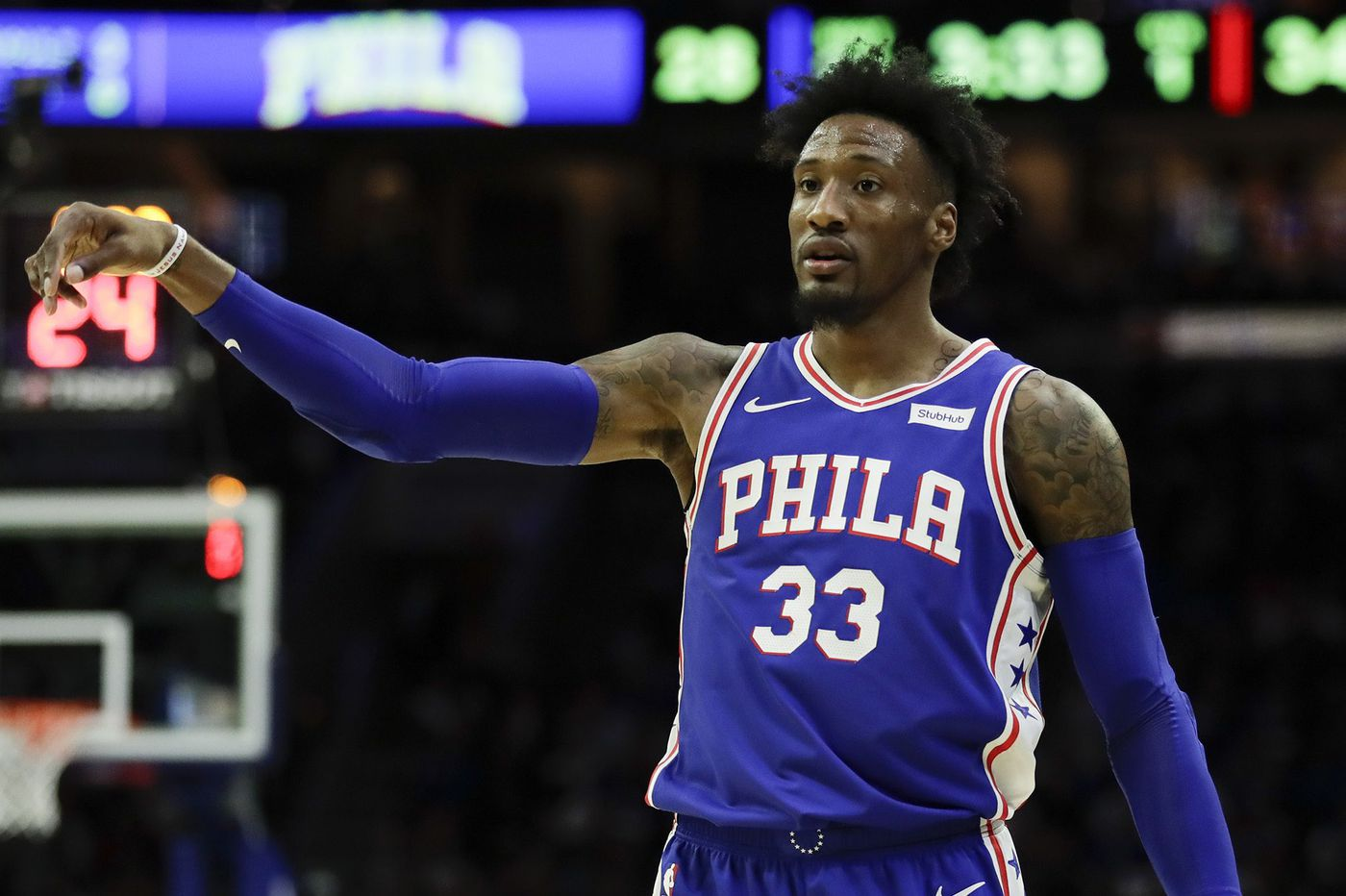 Robert Covington thanks Sixers Philly