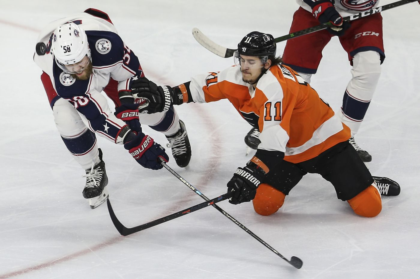 Travis Konecny, having a career season, and Flyers will try to sweep season series from Blue Jackets