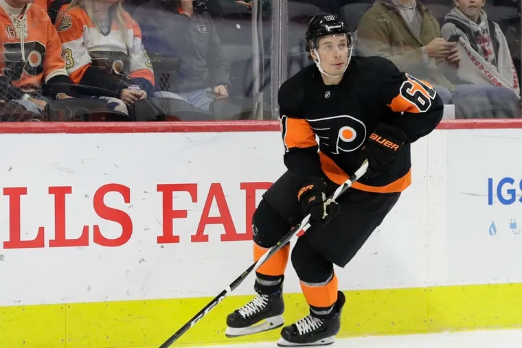 Flyers defenseman Justin Braun will be out for several weeks with a groin injury.