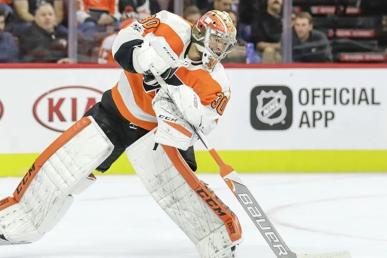 Flyers goaltender Michal Neuvirth is expected to start Tuesday against Vancouver.